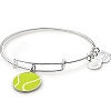 Team USA Tennis Charm Bangle Shiny Silver
