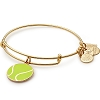 Team USA Tennis Charm Bangle Shiny Gold