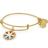Team USA Snowflake Charm Bangle Shiny Gold