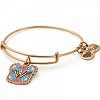 Peace Love Wonder Woman Charm Bangle Rafaelian Gold