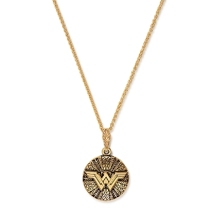 Wonder Woman Logo Adjustable Necklace Rafaelian Gold