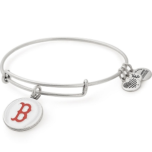 Boston Red Sox Color Infusion Charm Bangle Silver