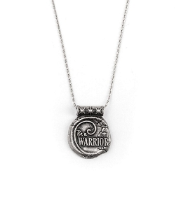 Be A Warrior Expandable Necklace Silver