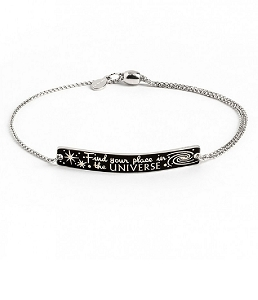 Find Your Place in the Universe Pull Chain Bracelet Silver