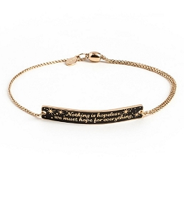 Nothing is Hopeless Pull Chain Bracelet Gold