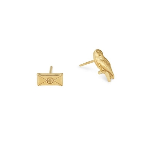 Harry Potter Owl Post Earrings Gold