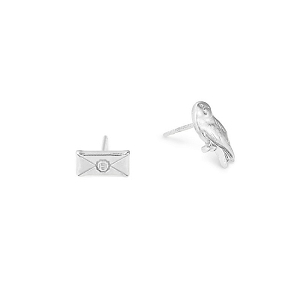 Harry Potter Owl Post Earrings Silver