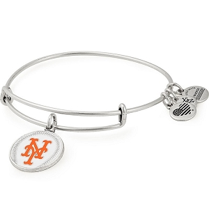New York Mets Color Infusion Charm Bangle Silver