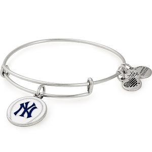 New York Yankees Color Infusion Charm Bangle Silver