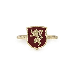 GAME OF THRONE Lannister Signet Adjustable Ring 14kt Gold Plated
