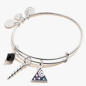 Harry Potter Deathly Hallows Trio Charm Bangle Shiny Silver