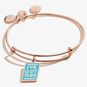 Barbie I've Got This Charm Bangle Shiny Rose Gold
