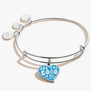 Barbie See the Good in all Things Charm Bangle Shiny Silver