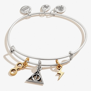 Harry Potter Deathly Hallows Multi Charm Bangle Two Tone