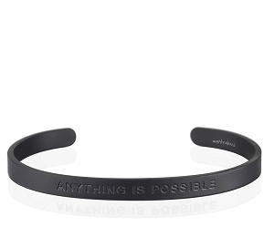 Mens Anything Is Possible Matte Black