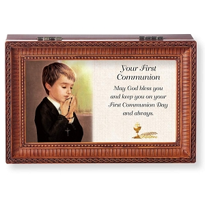 Your First Communion Music Box Plays What A Friend We Have in Jesus