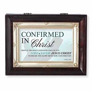 Confirmed In Christ Brown Large Insert Music Box B0043