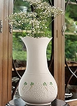 Belleek China Shamrock Lace 10 Vase 4350