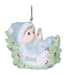 Babys First Christmas Dated 2013 Boy Ornament 131006