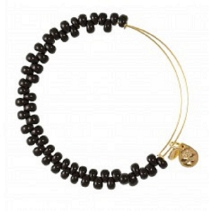 Caviar Bead Jet Shiny Gold