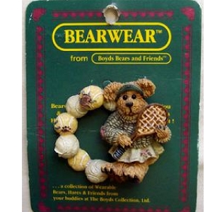 Boyds Bear Chrissy Tennis Anyone 26122 Pin