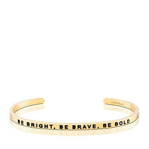 Be Bright, Be Brave, Be Bold CharityBand Gold