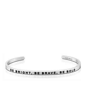 Be Bright, Be Brave, Be Bold Charity Band Silver