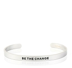 Mens Be the Change Silver