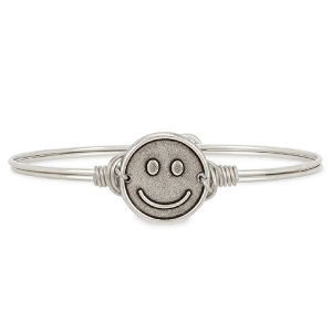 Be Happy Bangle Bracelet Silver 7.0