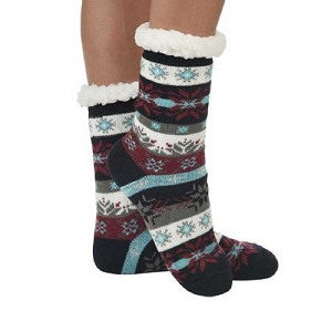 Cozy Sherpa Nordic 2 Sock Light Blue