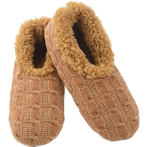 Solid Chenille Slippers Tan Medium 7 - 8