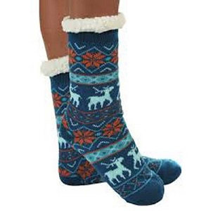 Cozy Sherpa Nordic 2 Sock Blue
