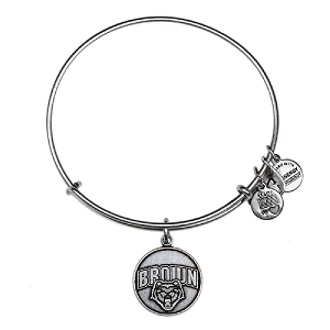 Brown University Mascot Charm Bangle Rafaelian Silver