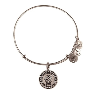Bryant University Logo Charm Bangle Silver