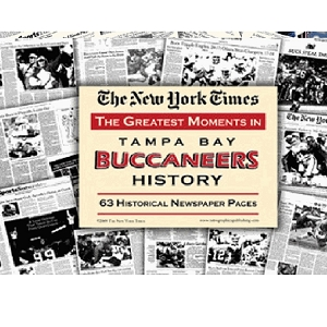 Tampa Bay Buccaneers History New York Times Newspaper Compilation