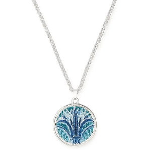 Blue Lotus Adjustable Statement Necklace Silver