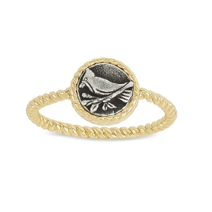 Cardinal Ring 18kt Gold Plated Size 8