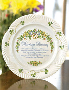 Belleek Marriage Blessing Plate 9