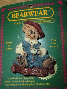 Boyds Bears Pin Caitlin Fine Cup of Tea 2000-11