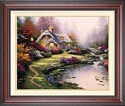 Thomas Kinkade Everetts Cottage 24 x 30 Canvas Framed SN