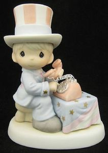 Precious Moments Let Freedom Ring Patriotic Uncle Sam 681059E