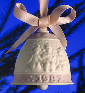 1987 Annual Christmas Bell Ornament 5458