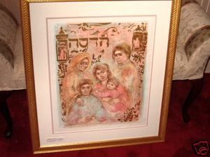 Edna Hibel The Hadassah The Generations Litho Framed