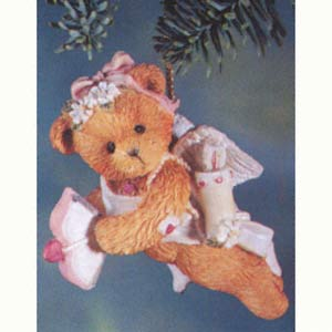 Cherished Teddies Sending You My Heart Girl Ornament 103616