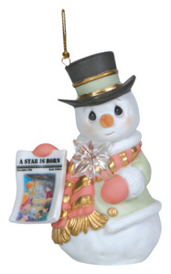 Precious Moments A Star Is Born Snowman Ornament 121026