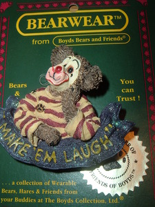 Boyds Bear Pin Make Them Laugh Clown 2001-72