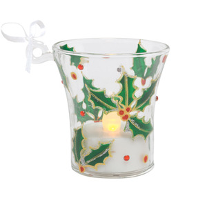 Holly Berry Mini Candle Ornament ORN7-5545H