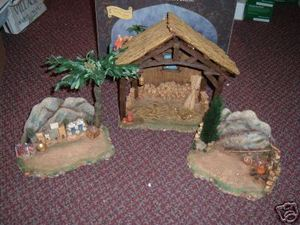 Roman Fontanini Mantel Stable Nativity Scene for 5
