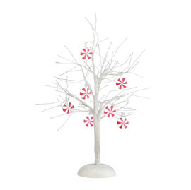 Department 56 Peppermint Lit Bare Branch Tree 4025369