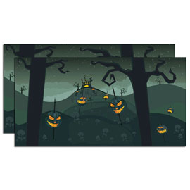 Halloween Backdrop Set of 2 4025413